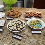 Food and decorations for geek baby shower
