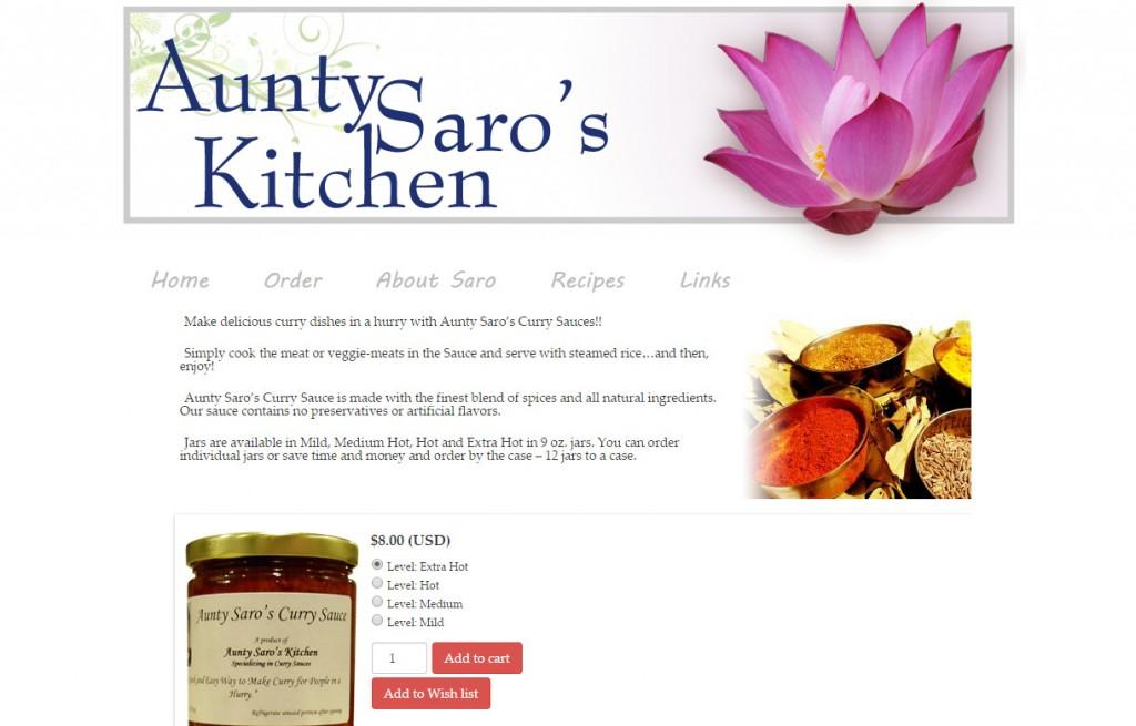 aunty saros kitchen 2012